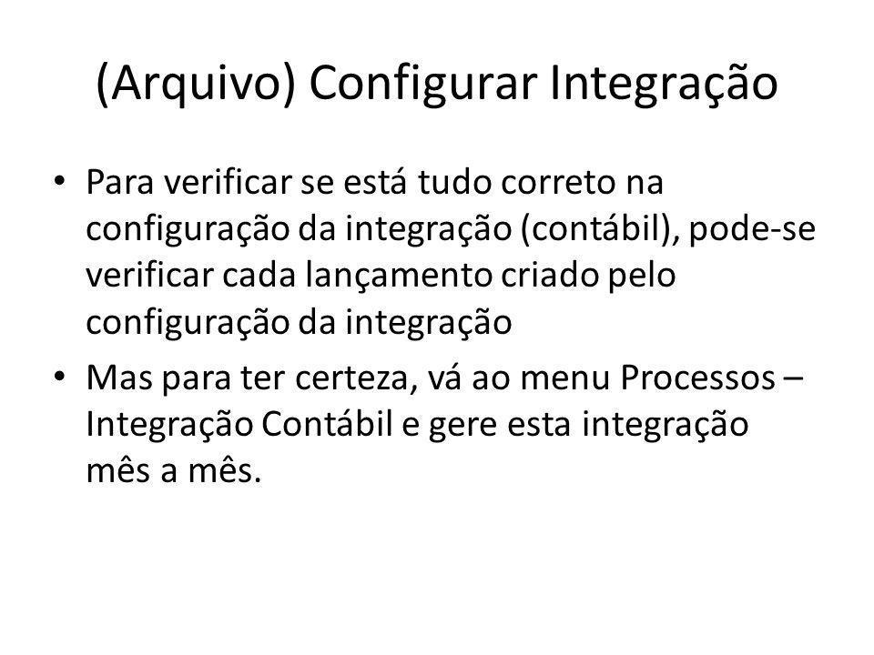 (Arquivo) Configurar Integração