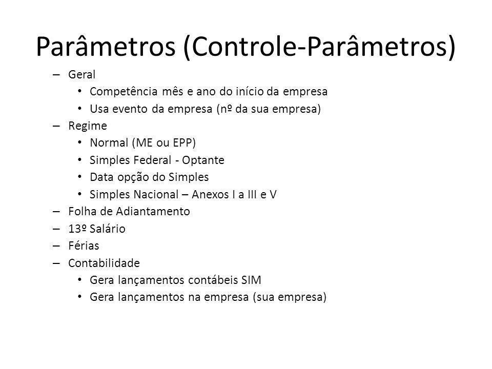 Parâmetros (Controle-Parâmetros)