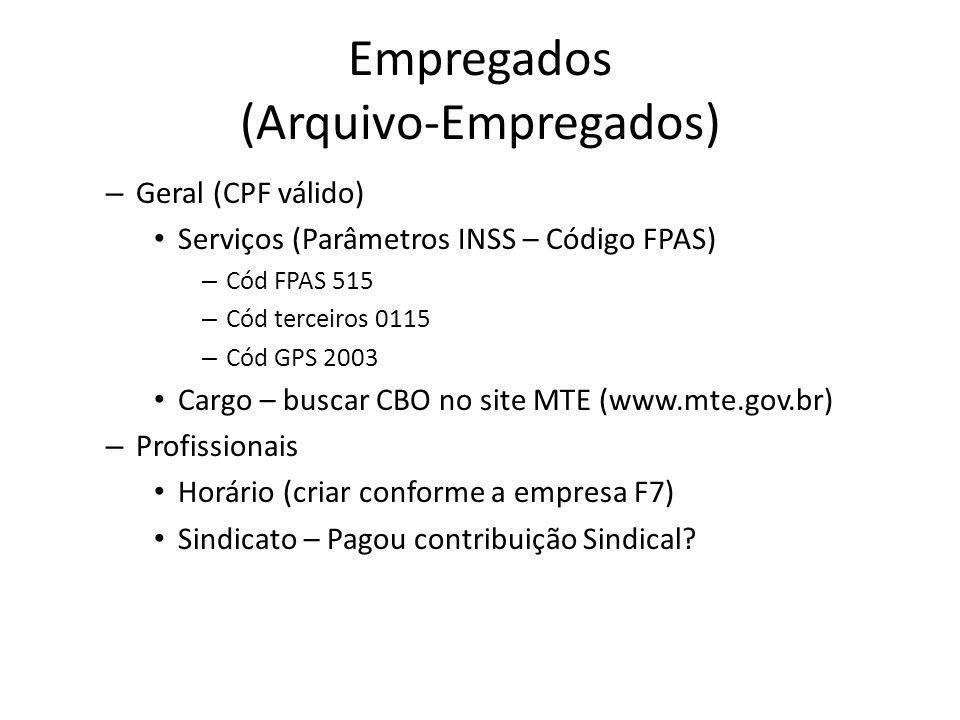Empregados (Arquivo-Empregados)