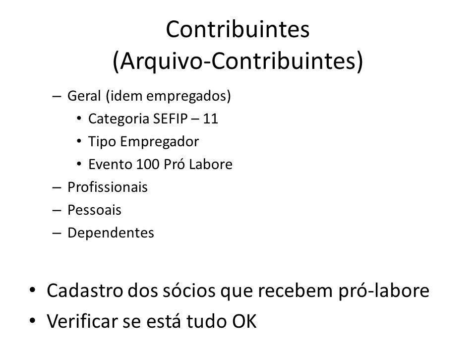 Contribuintes (Arquivo-Contribuintes)