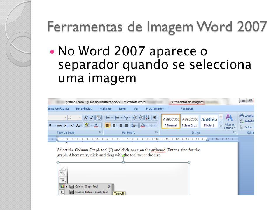 Ferramentas de Imagem Word 2007