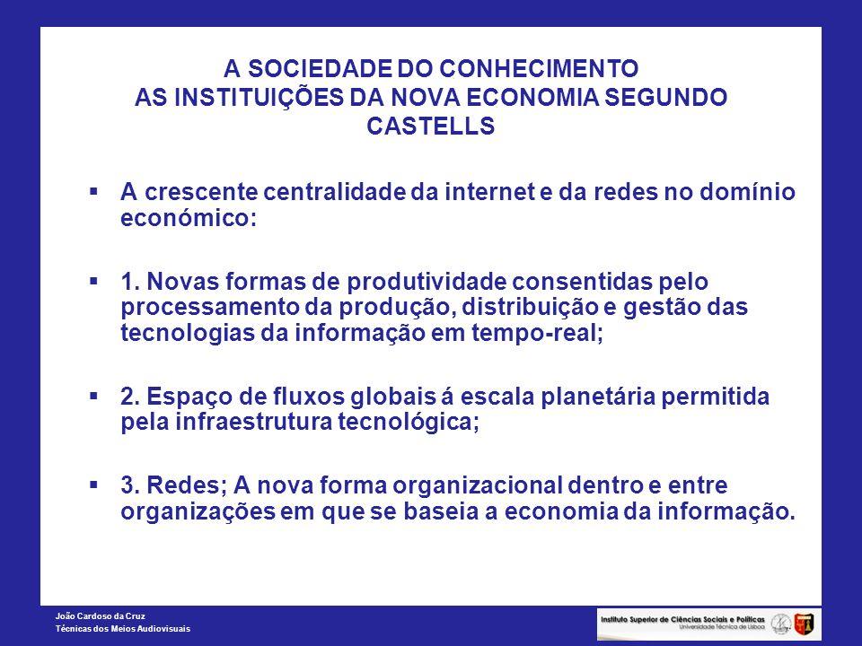 A SOCIEDADE DO CONHECIMENTO AS INSTITUIÇÕES DA NOVA ECONOMIA SEGUNDO CASTELLS
