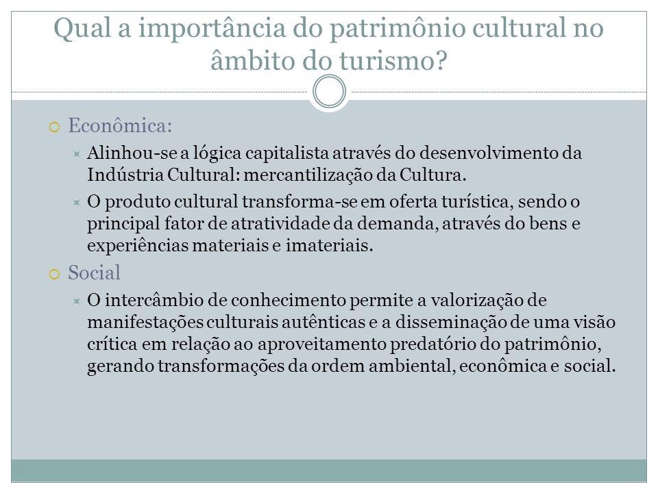 Qual a importância do patrimônio cultural no âmbito do turismo