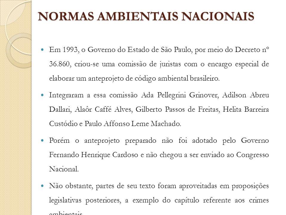 NORMAS AMBIENTAIS NACIONAIS