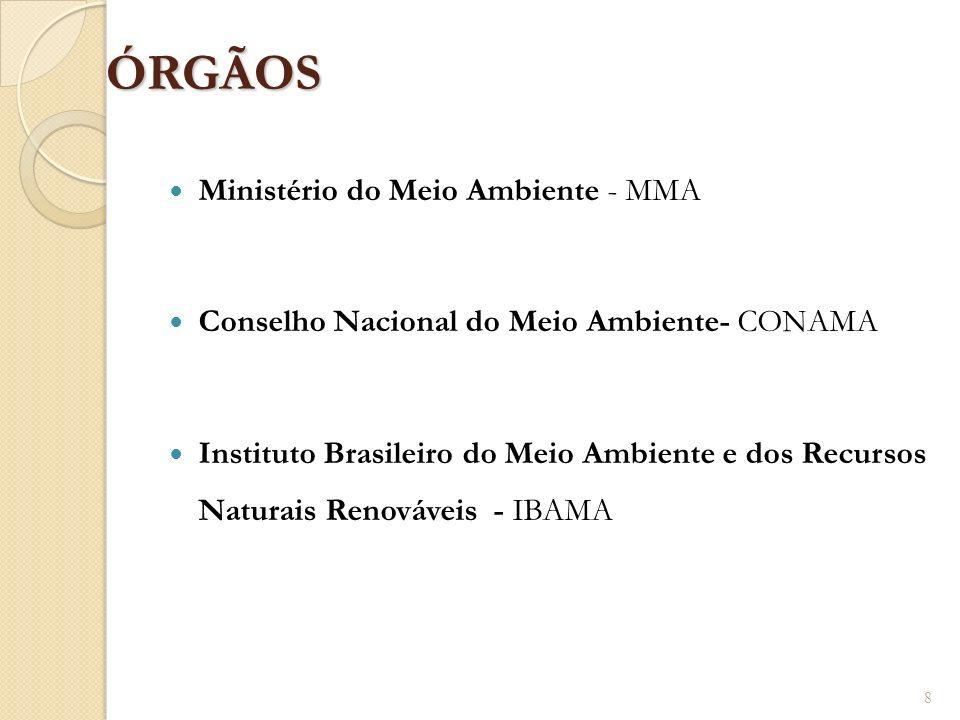 ÓRGÃOS Ministério do Meio Ambiente - MMA