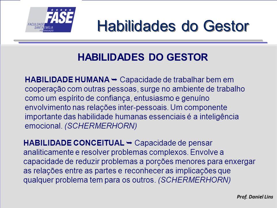 Habilidades do Gestor HABILIDADES DO GESTOR