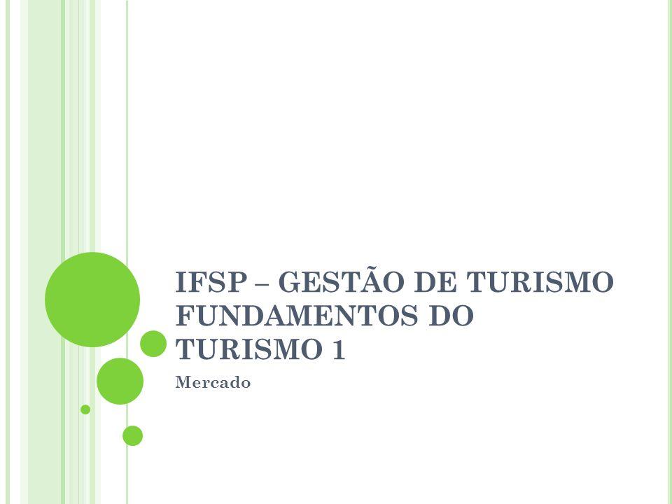 IFSP – GESTÃO DE TURISMO FUNDAMENTOS DO TURISMO 1