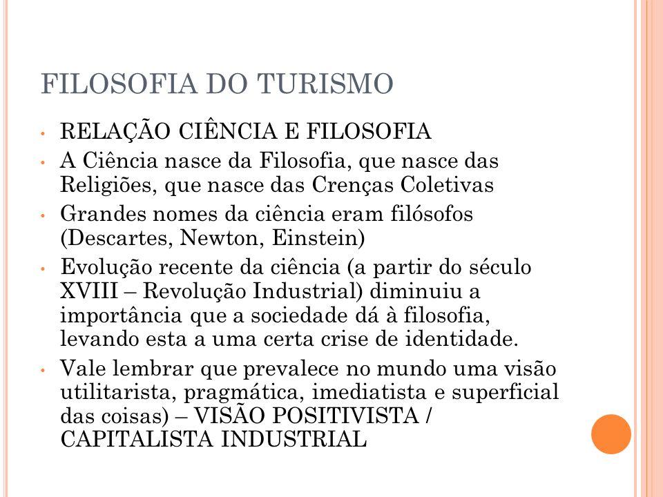 FILOSOFIA DO TURISMO RELAÇÃO CIÊNCIA E FILOSOFIA
