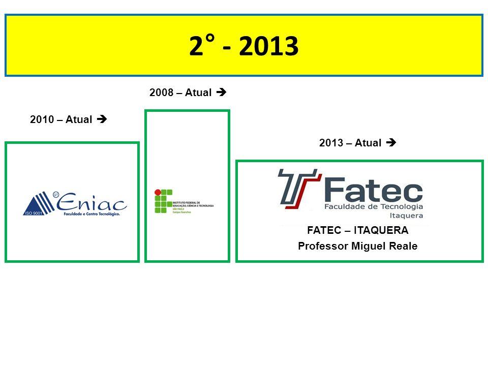 2° - 2013 2008 – Atual  2010 – Atual  2013 – Atual 
