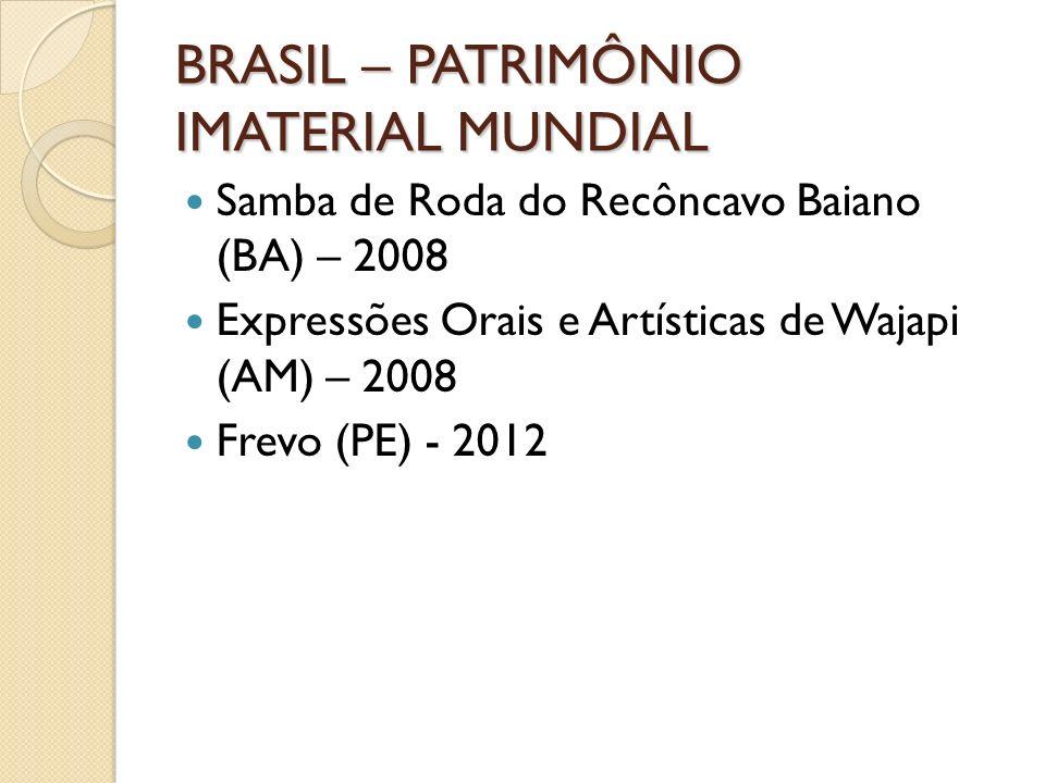 BRASIL – PATRIMÔNIO IMATERIAL MUNDIAL