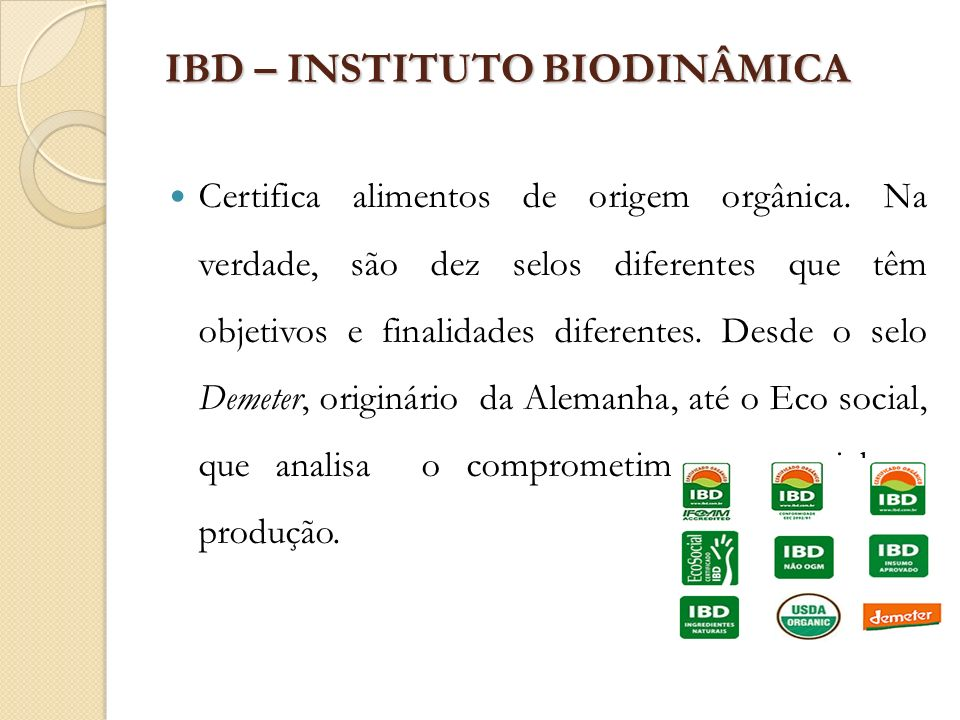 IBD – INSTITUTO BIODINÂMICA