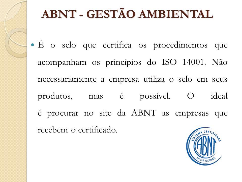 ABNT - GESTÃO AMBIENTAL