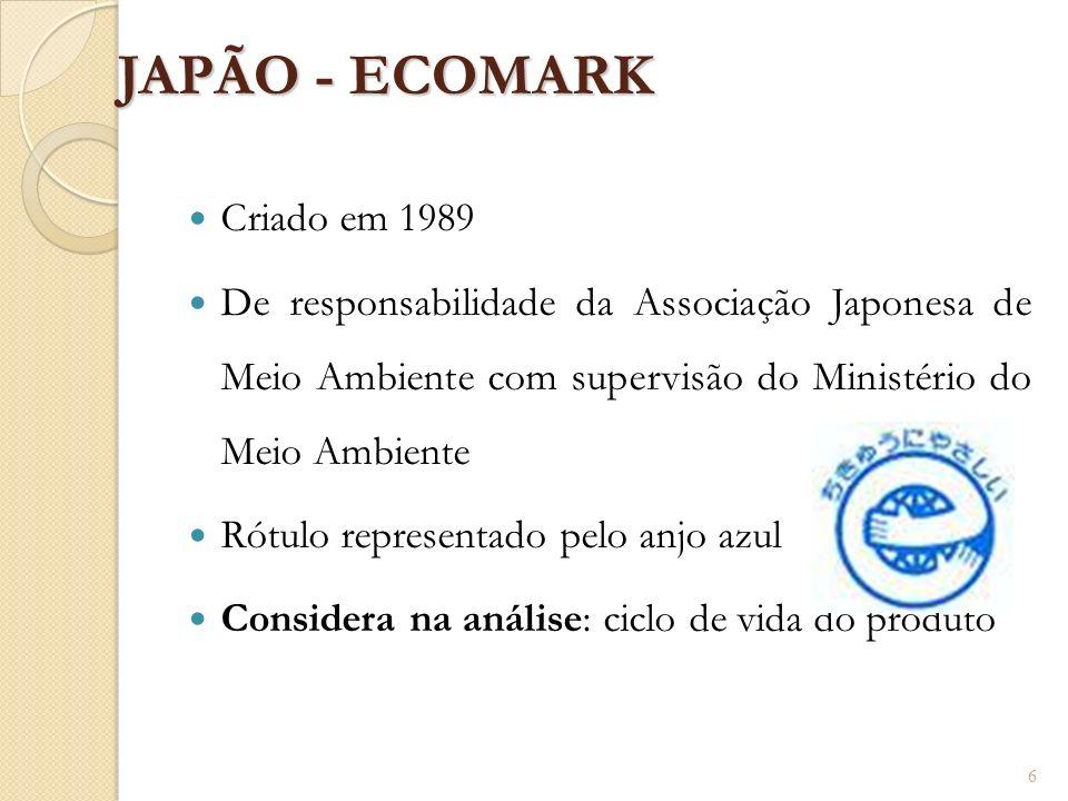 JAPÃO - ECOMARK Criado em 1989