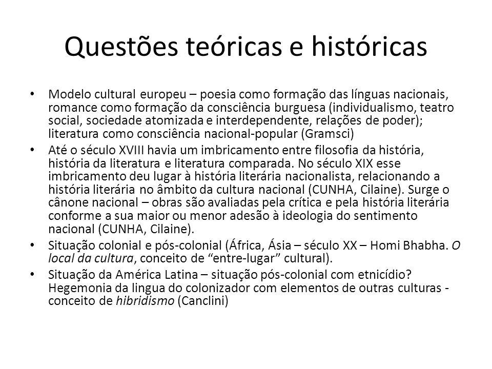 Questões teóricas e históricas