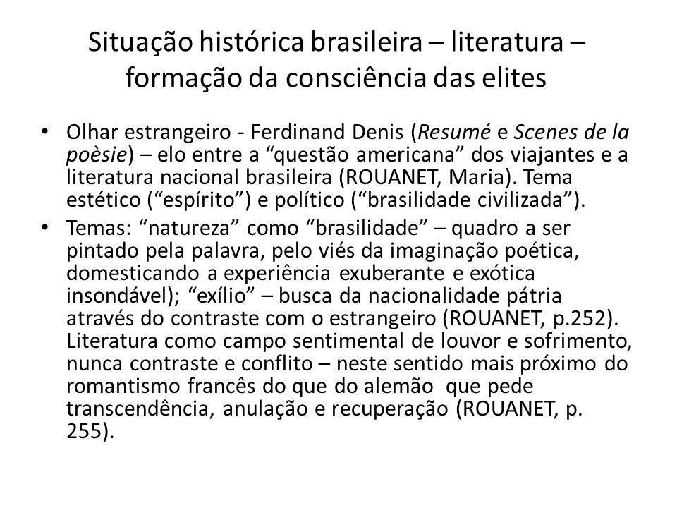 Situação histórica brasileira – literatura – formação da consciência das elites