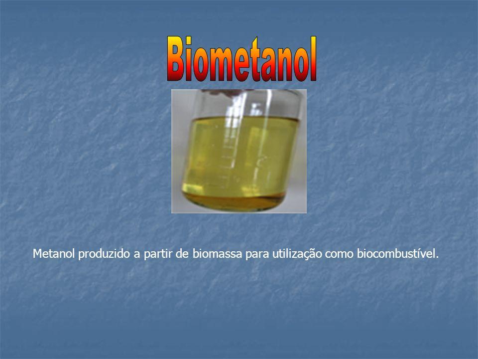 Biometanol Metanol produzido a partir de biomassa para utilização como biocombustível.