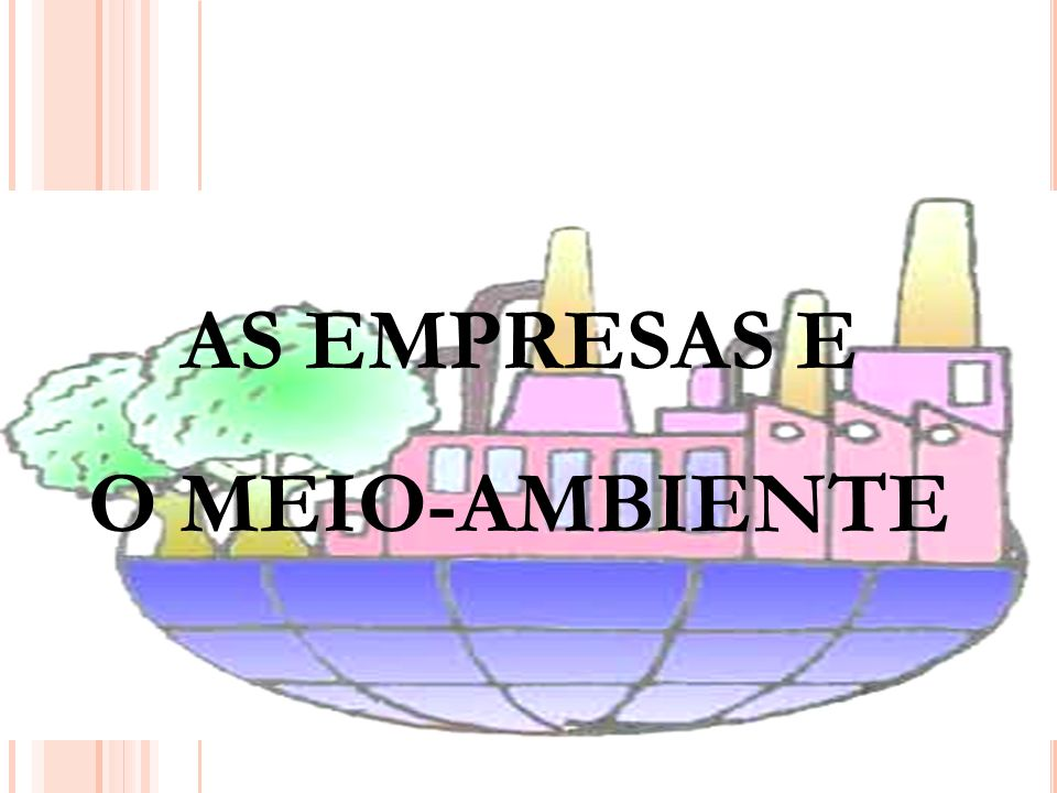 AS EMPRESAS E O MEIO-AMBIENTE
