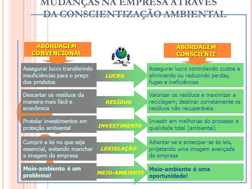 MUDANÇAS NA EMPRESA ATRAVÉS DA CONSCIENTIZAÇÃO AMBIENTAL