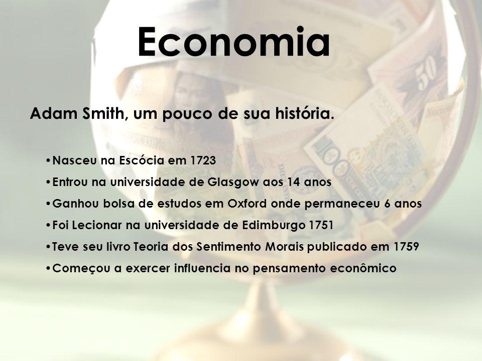 Economia Adam Smith, um pouco de sua história.