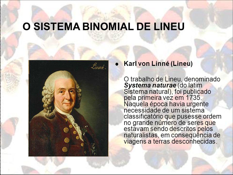 O SISTEMA BINOMIAL DE LINEU