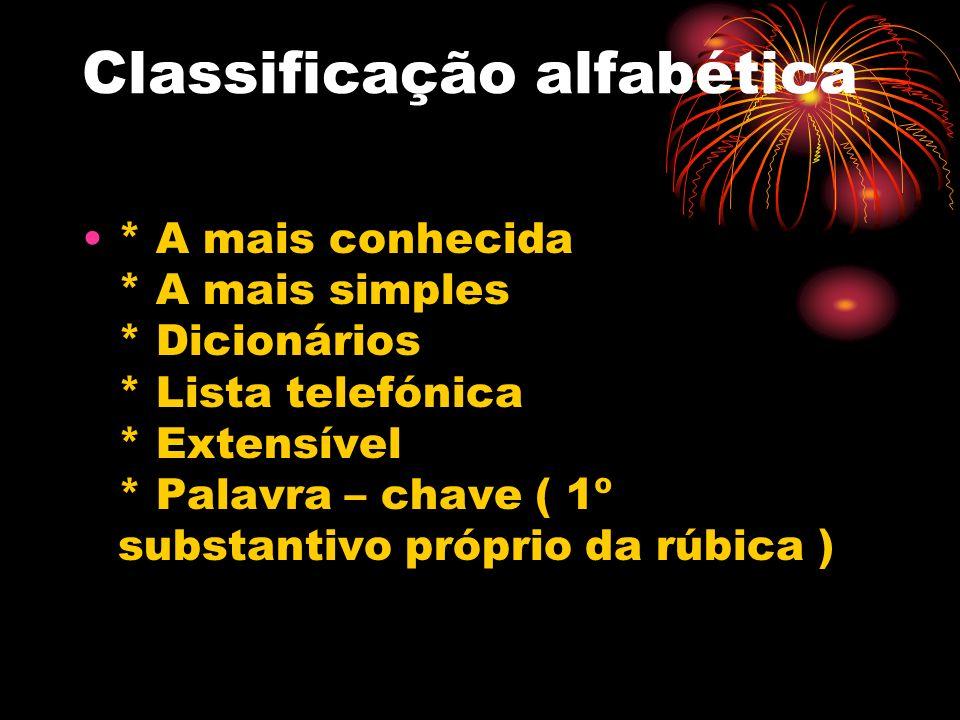 Classificação alfabética
