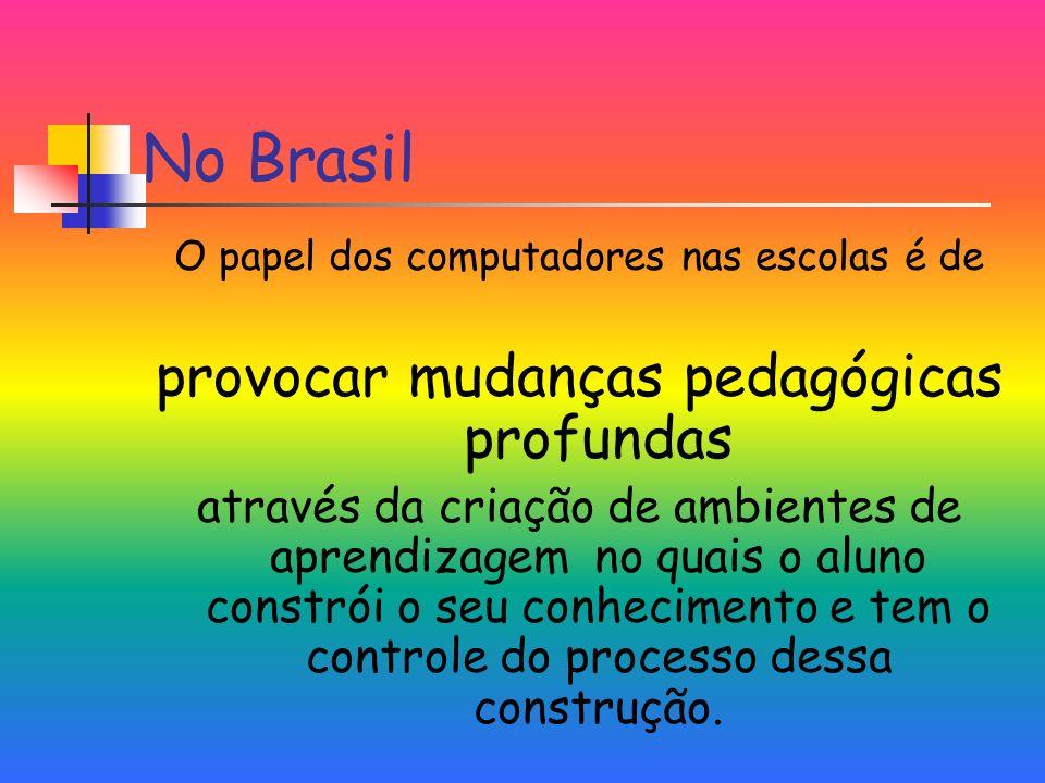 No Brasil provocar mudanças pedagógicas profundas