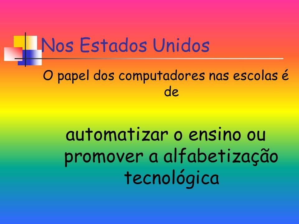automatizar o ensino ou promover a alfabetização tecnológica