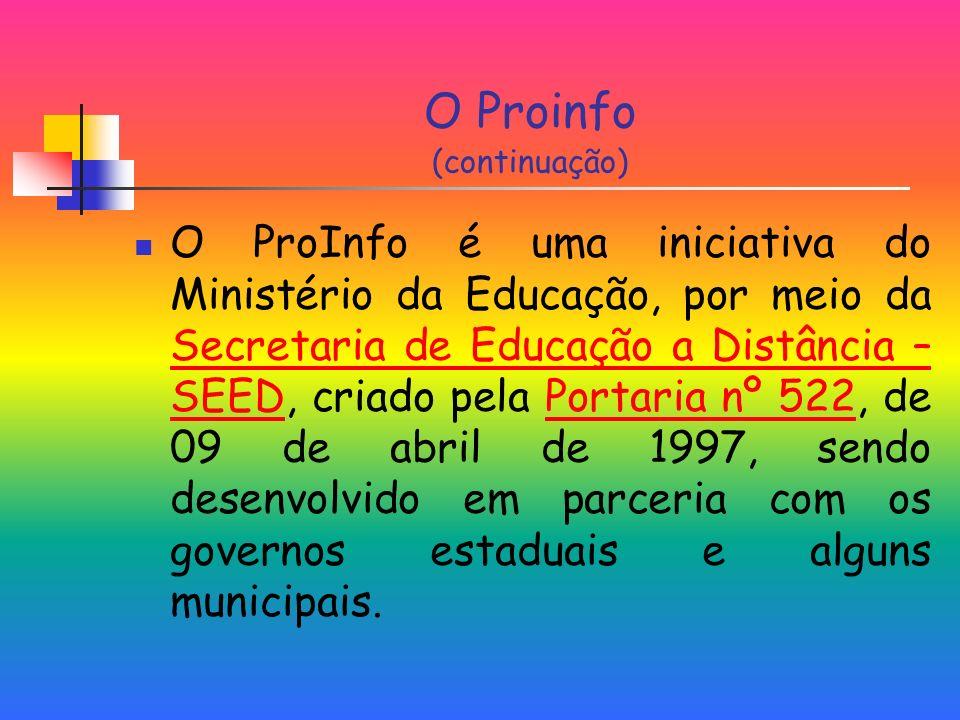 O Proinfo (continuação)