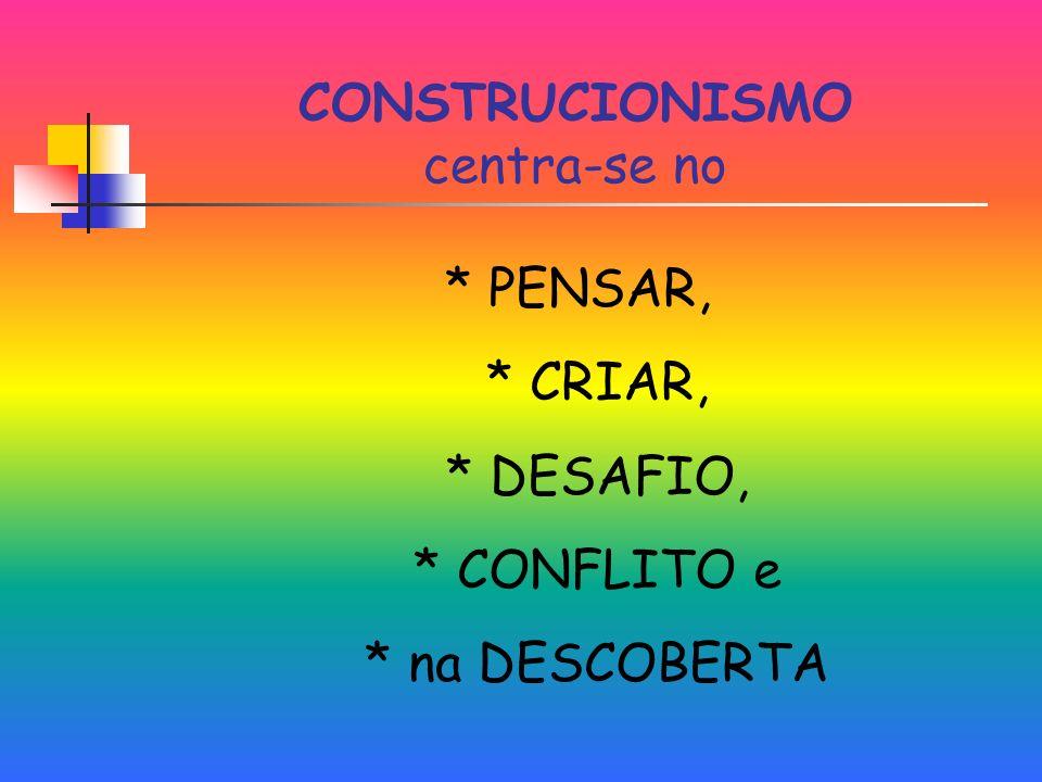 CONSTRUCIONISMO centra-se no