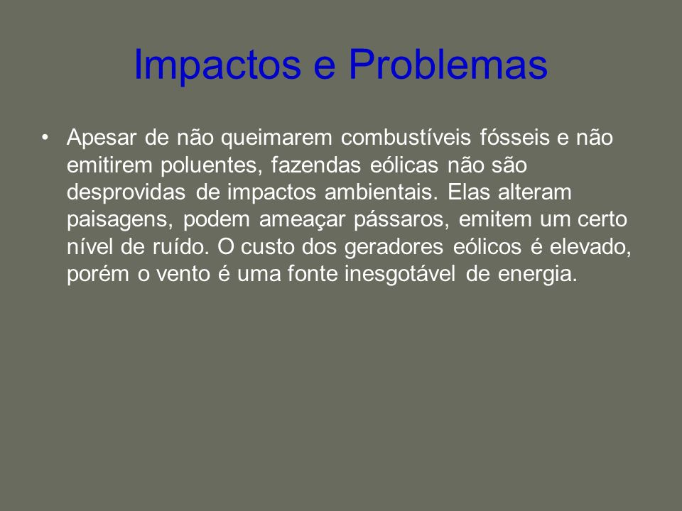 Impactos e Problemas