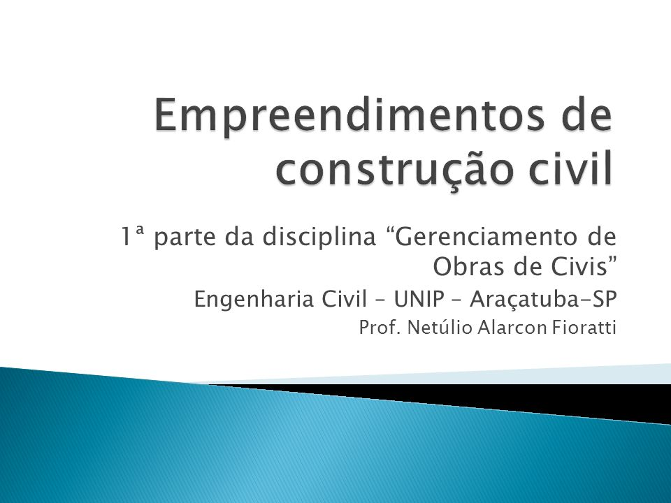 Empreendimentos de construção civil