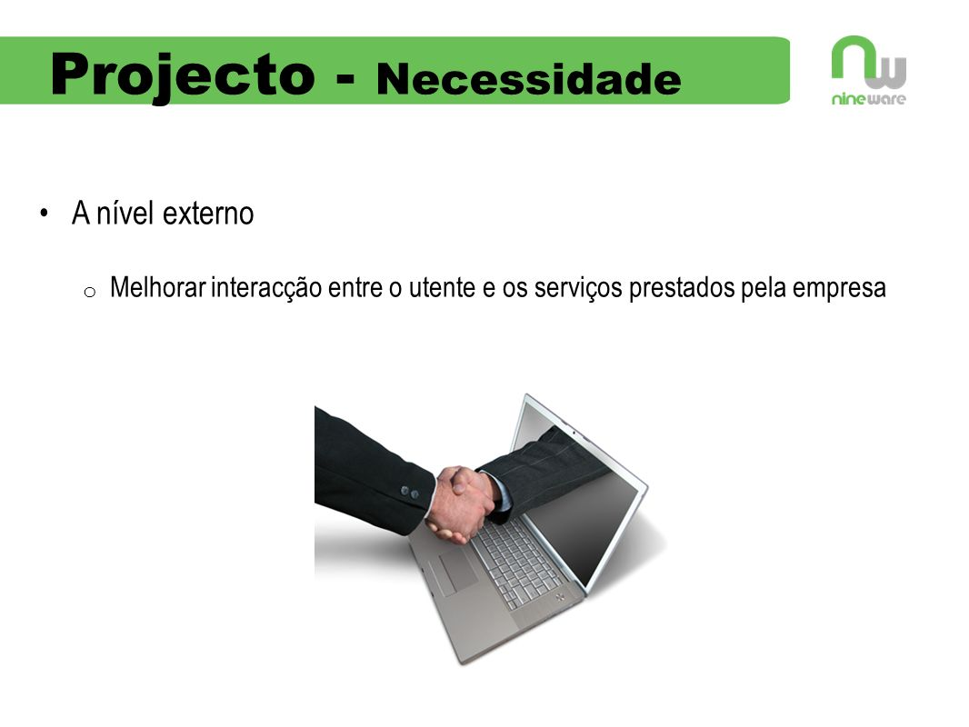 Projecto - Necessidade