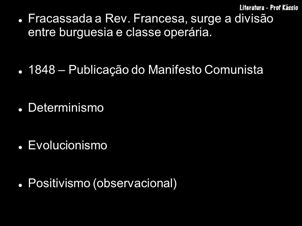 Fracassada a Rev. Francesa, surge a divisão entre burguesia e classe operária.