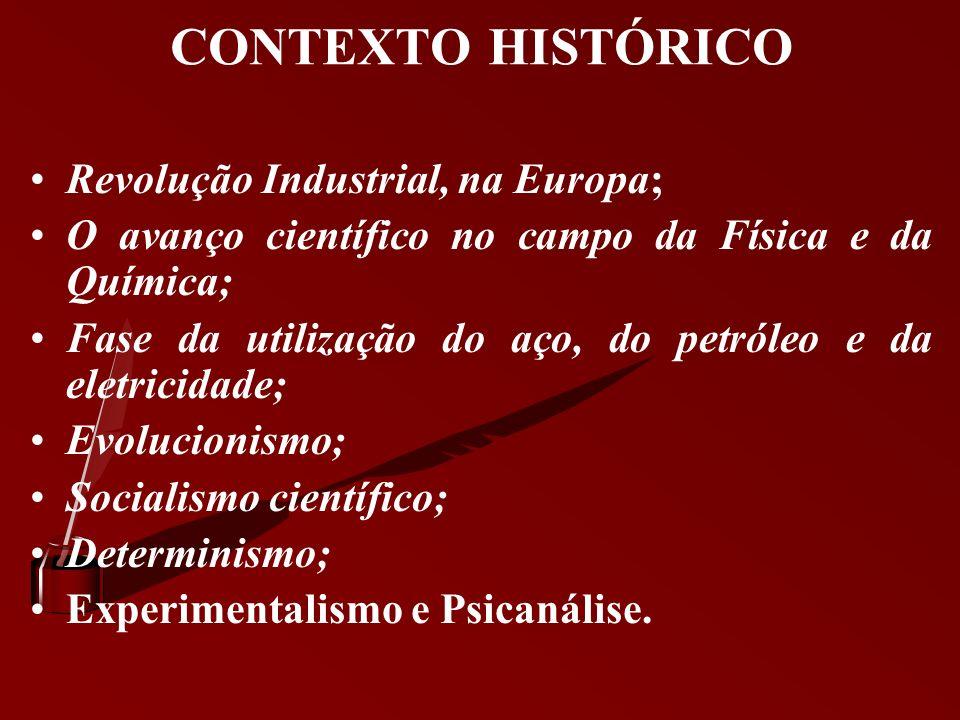 CONTEXTO HISTÓRICO Revolução Industrial, na Europa;