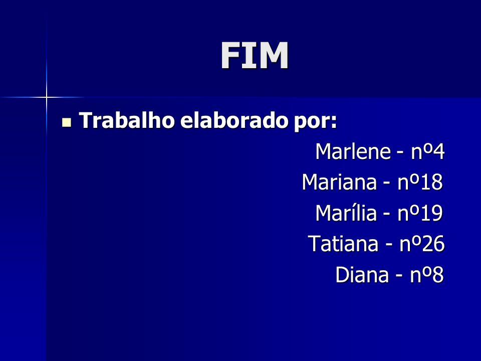 FIM Trabalho elaborado por: Marlene - nº4 Mariana - nº18