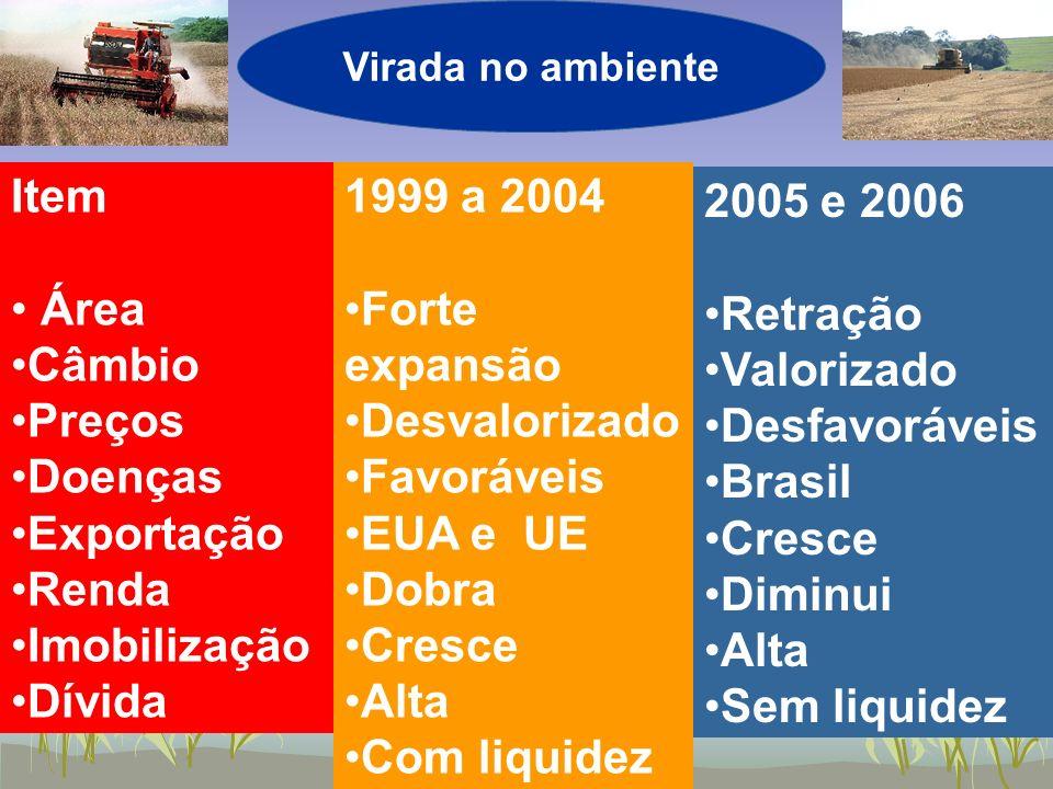 Item Área Câmbio Preços Doenças Exportação Renda Imobilização Dívida