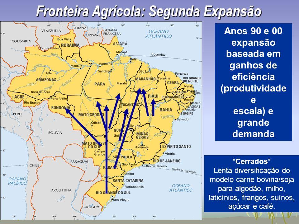 Fronteira Agrícola: Segunda Expansão