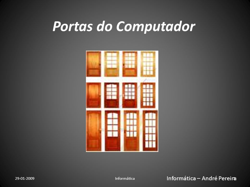 Portas do Computador Informática – André Pereira 29-01-2009