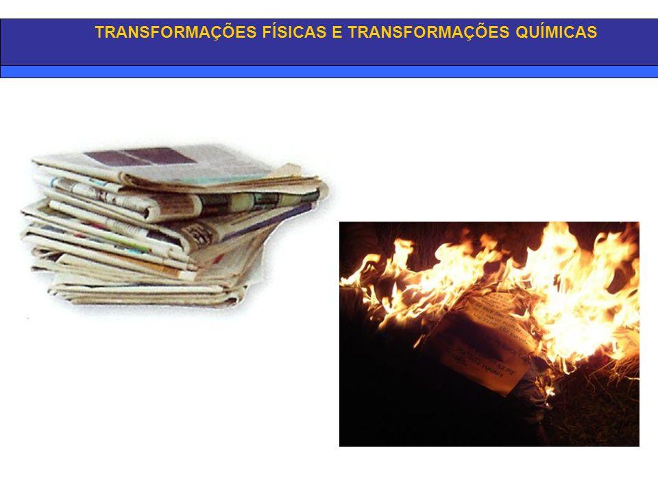 TRANSFORMAÇÕES FÍSICAS E TRANSFORMAÇÕES QUÍMICAS