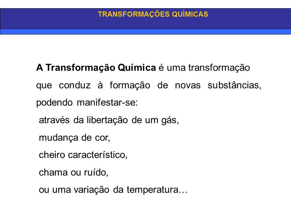 TRANSFORMAÇÕES QUÍMICAS