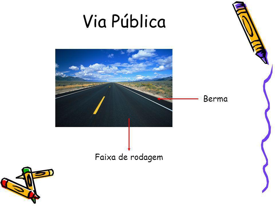 Via Pública Berma Faixa de rodagem
