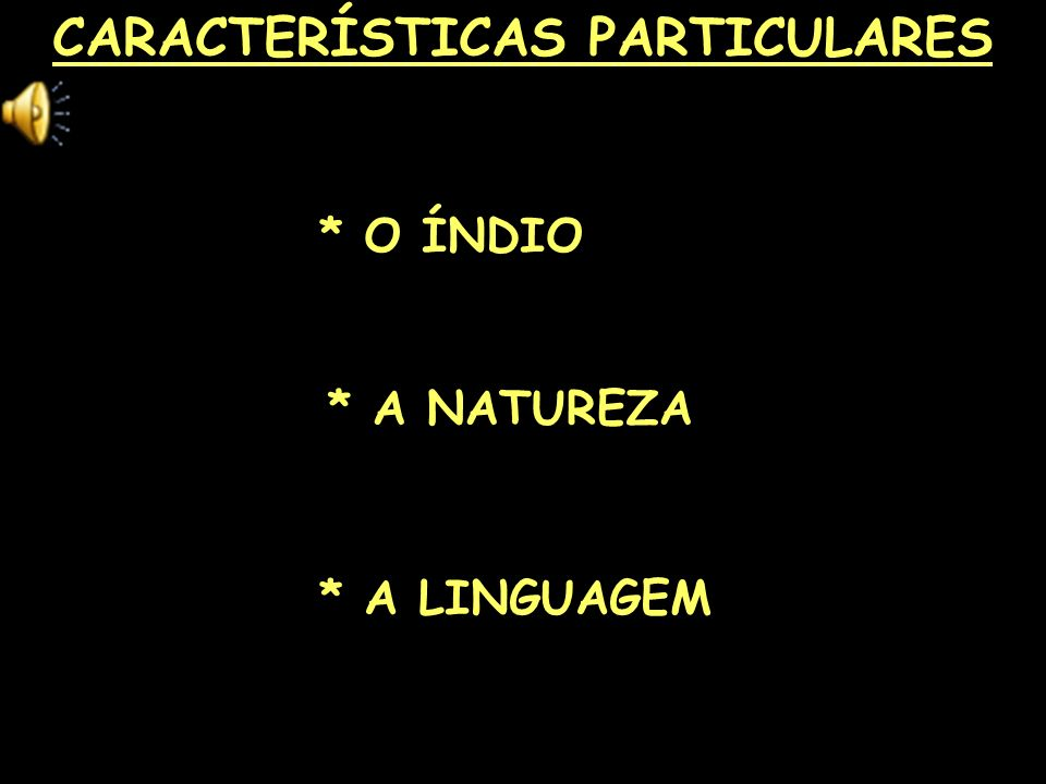 CARACTERÍSTICAS PARTICULARES