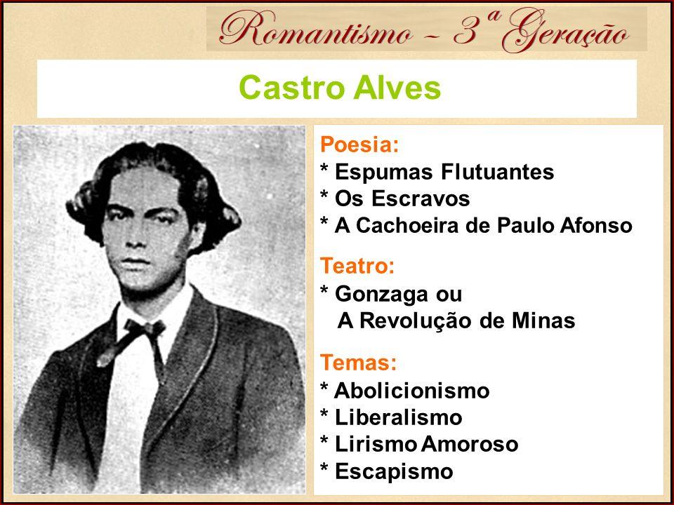Romantismo – 3ª Geração Castro Alves