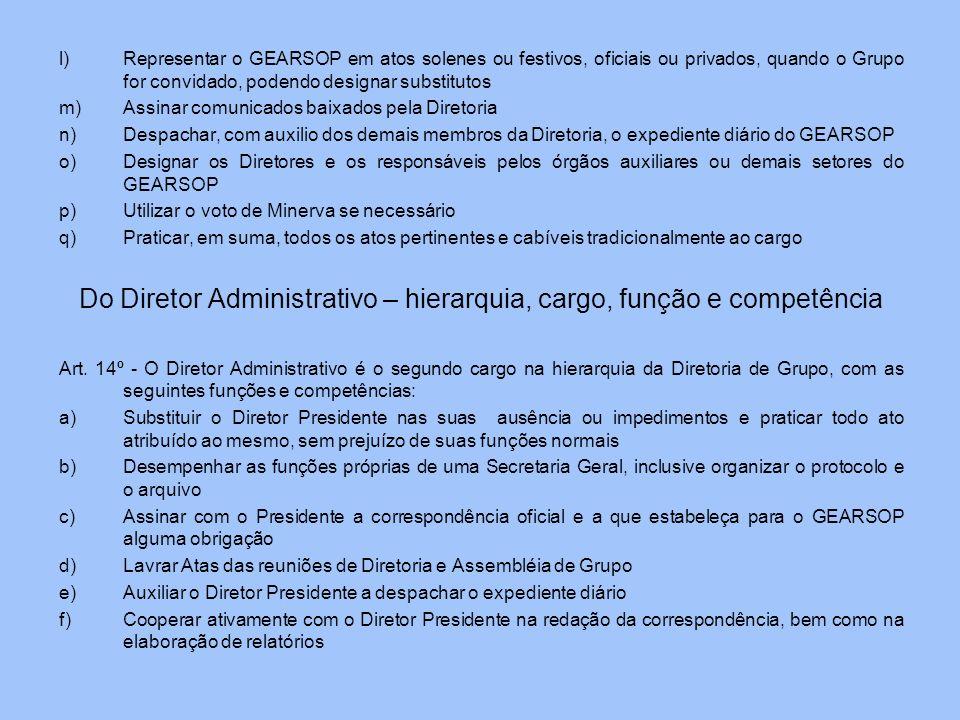 Do Diretor Administrativo – hierarquia, cargo, função e competência