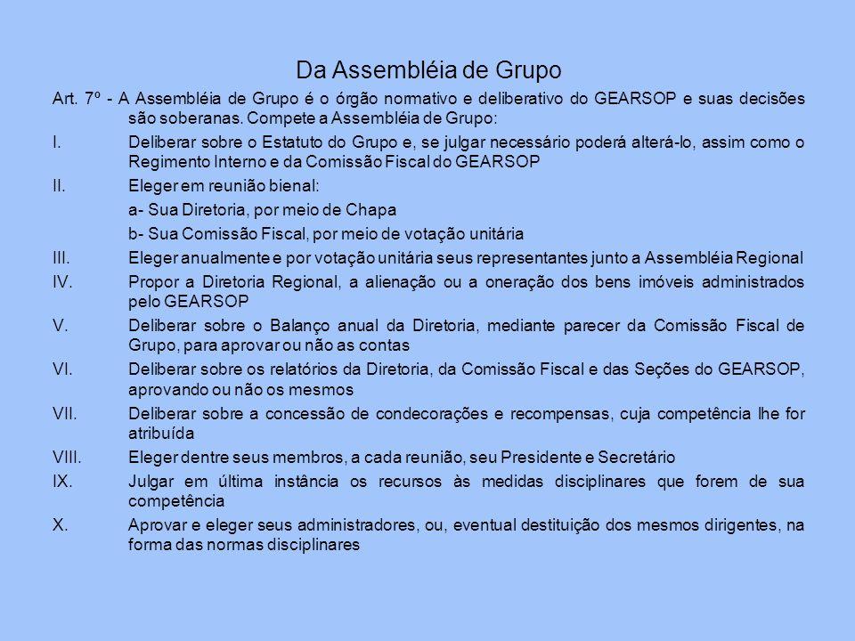 Da Assembléia de Grupo