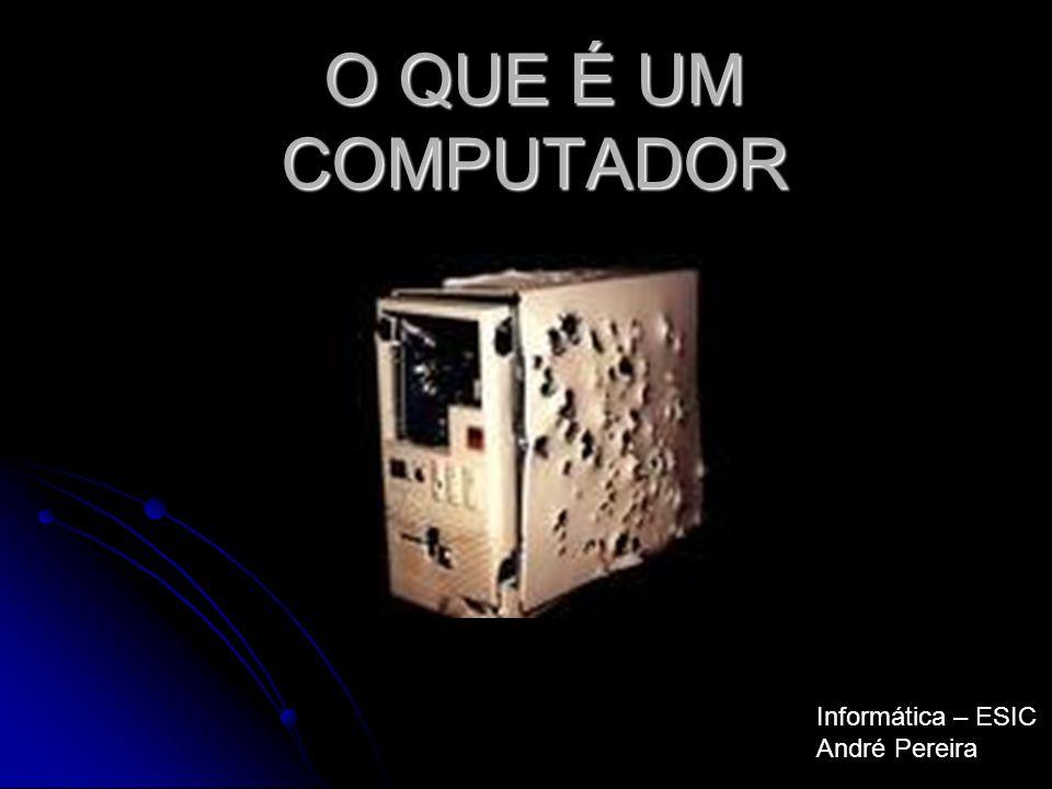 O QUE É UM COMPUTADOR Informática – ESIC André Pereira
