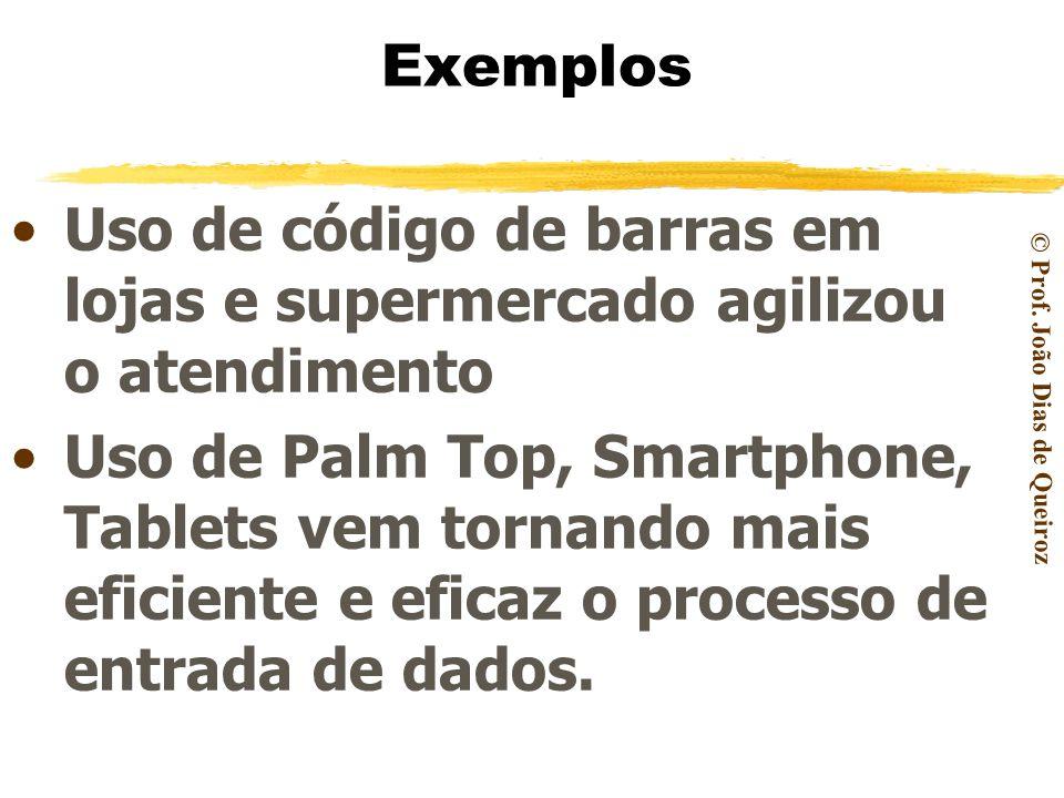 Exemplos Uso de código de barras em lojas e supermercado agilizou o atendimento.
