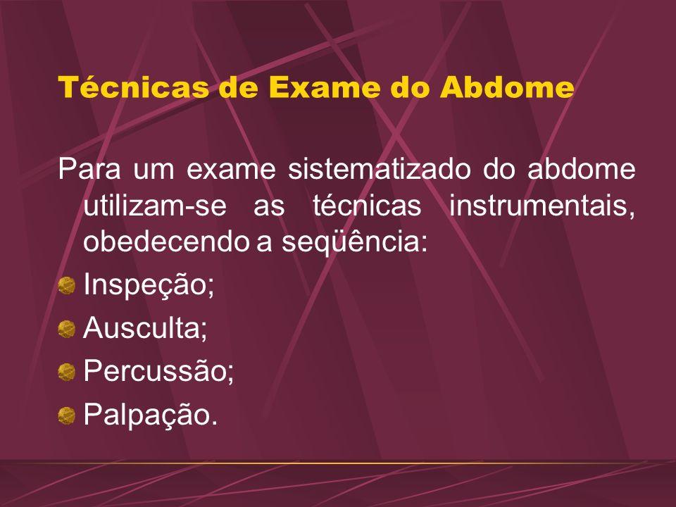 Técnicas de Exame do Abdome