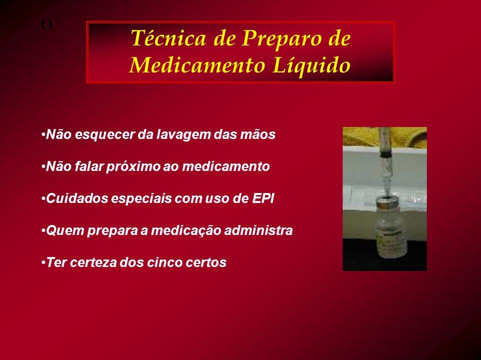 Técnica de Preparo de Medicamento Líquido
