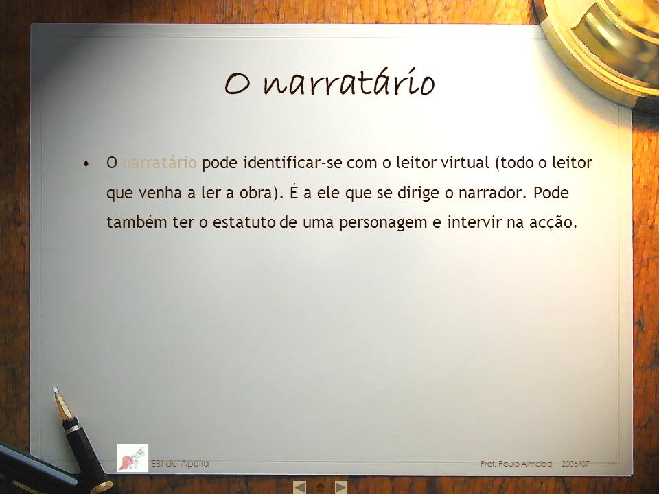 O narratário